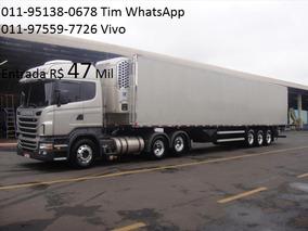 Scania 124 420 0km Highline Com Baú Refrigerado Camara Fria