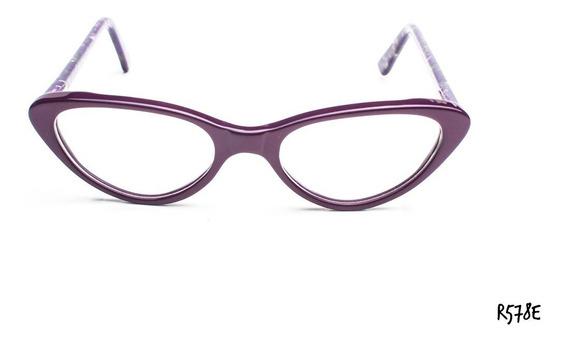 Armazones Anteojos Gafas Acetato Con Flex Zafhir R578