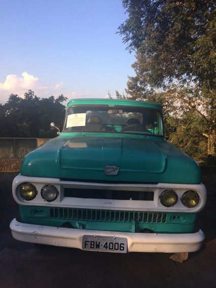 Pick-up Ford F100 Stepside Ano 1966 C/ Motor C10 6 Cc Gasol.