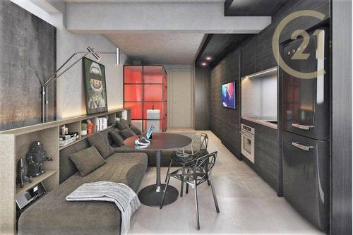 Imagem 1 de 25 de Apartamento Com 1 Dormitório Studio À Venda, 25 M² Por R$ 390.000 - Perdizes - São Paulo/sp - Ap24145