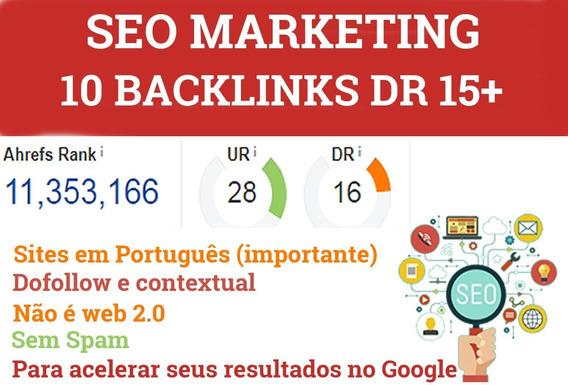 Comprar 10 Backlinks Dr 15+ Babri Backlinks Online
