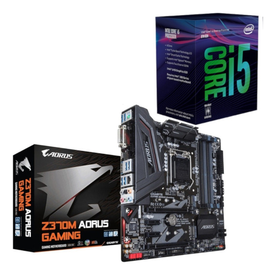 Kit Processador Intel I5 8400 + Placa Aorus Z370m Gaming