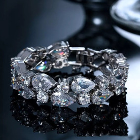 Pulseira Bracelete Feminino Luxo Com Zircônias
