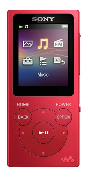 Reproductor De Música Digital Walkman Rojo 4gb Nw-e393