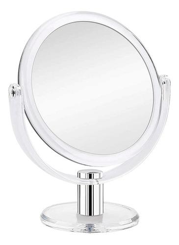Espelho De Mesa P/ Maquiagem Com Aumento De 10º - Portátil