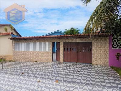 Casa Isolada Com 03 Dormitórios, Espaço Gourmet + Piscina Com Cascata - Lado Praia - À Venda, Balneário Itaoca, Mongaguá. - Ca0120
