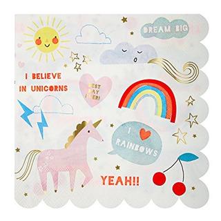 Meri Meri 45-2170 Unicornio Grandes Servilletas Novedad