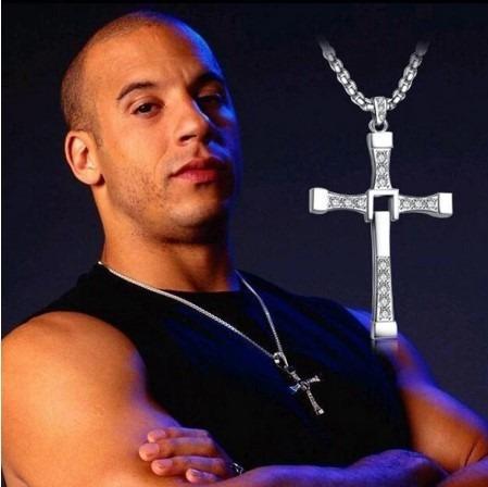 Colar Corrente Masculino Cruz Toretto Velozes 72 Cm
