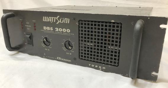 Potência Wattsom Dbs 2000 Porrada De Som