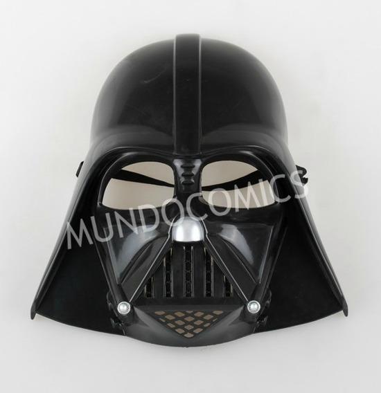 Máscara Plástica Darth Vader De Star Wars Para Niños