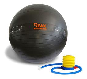 Bola Pilates 65 Cm Desenho De Exercícios E Bomba Grátis Reax