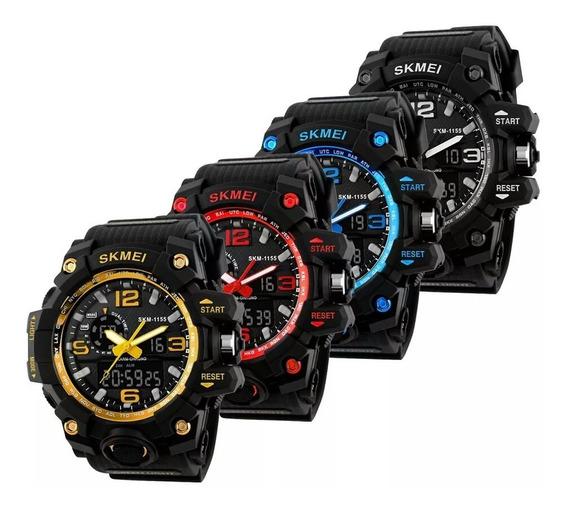 Relógios Masculino Skmei Militar Tatico + Caixa De Brinde