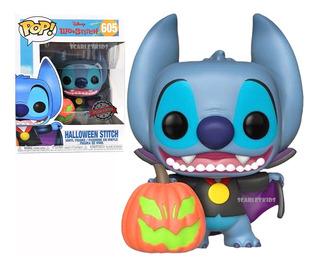 Funko Pop Stitch 605 Halloween Special Disney Orig Scarlet