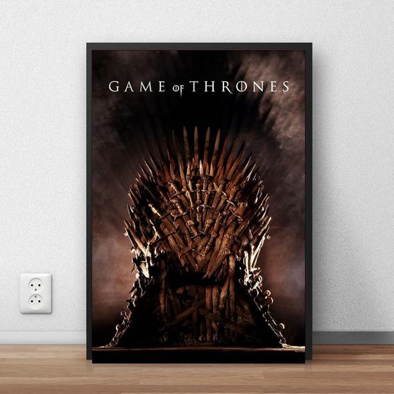 Quadro Decorativo Game Of Thrones Com Moldura A4 Premium