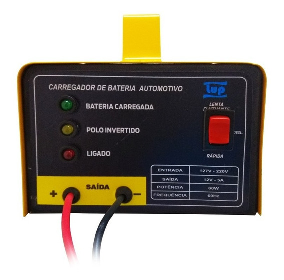 Carregador De Bateria Automotivo Bivolt 12v 5a Led Lup