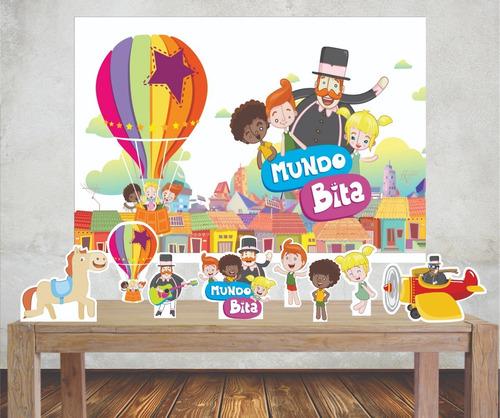 Kit Painel Poli Banner + Displays Mundo Bita