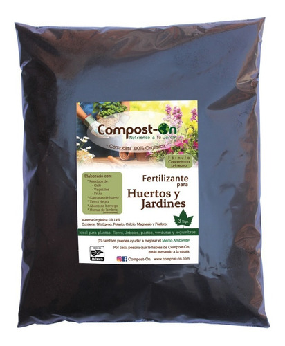 3 Kgs Composta Orgánica Compost-on