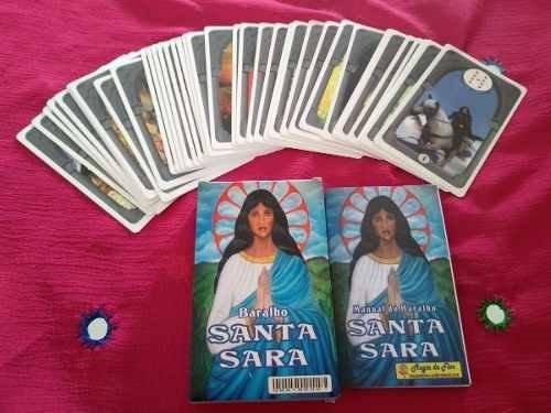 Baralho Cartas Cigana Santa Sara 36 Cartas + Folheto