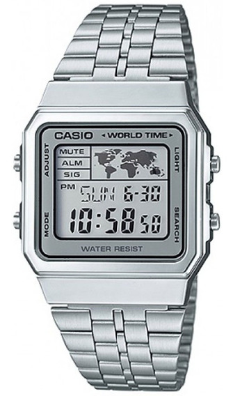 Relógio Casio Original Unisex Vintage World Time A500wa-7df