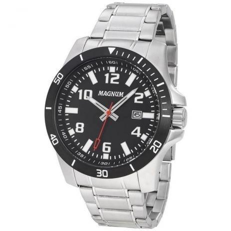 Relógio Magnum Analógico Masculino Prata Ma35057t