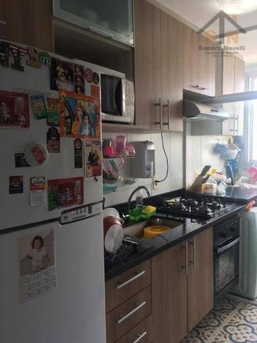 Imagem 1 de 6 de Apartamento Com 2 Dormitórios À Venda, 46 M² Por R$ 220.000,00 - Vila Rio De Janeiro - Guarulhos/sp - Ap0215