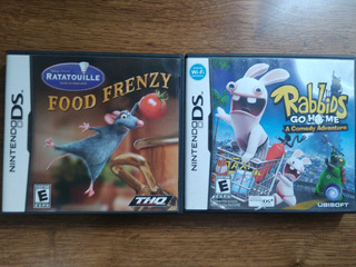 Juegos Ds: Rabbids Go Home + Ratatouille Food Frenzy