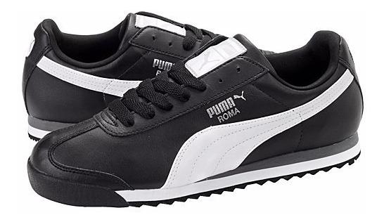 Tenis Puma Roma Basic Negro Blanco 353572-11