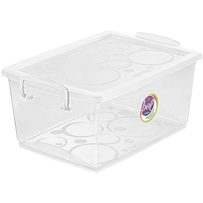 Caixa Organizadora C/trava Cristal 4l Or80300 Ordene