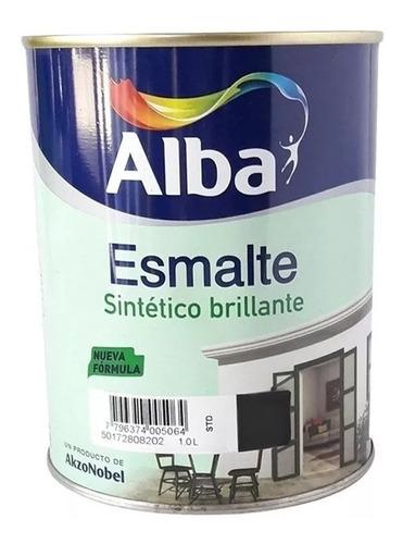 Esmalte Sintetico Alba Standard Negro Brillante 4l Pintumm