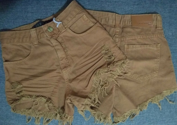 Shorts Femininos Hotpants Destroyed Lady Rock Original