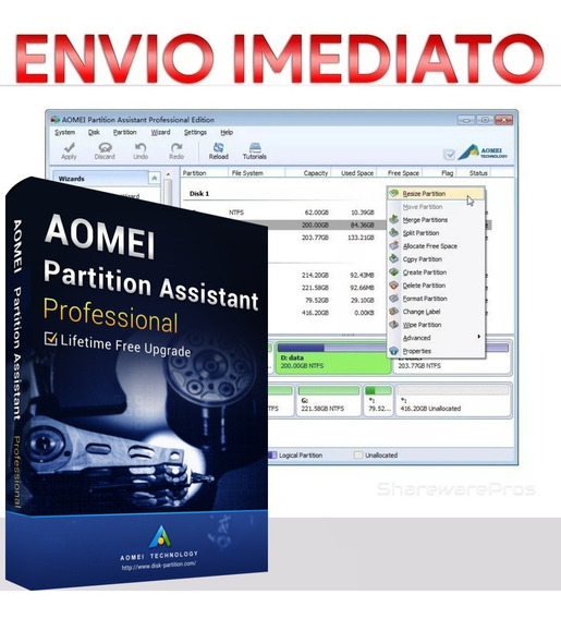 Aomei Partition Assistant Professional Edition 8.4 + Chave