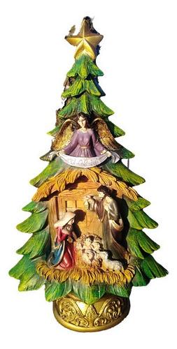 Imagen 1 de 3 de Escultura Árbol De Navidad 30cm Y Misterio. Navideño.