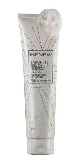 Renew - Sabonete Gel De Limpeza Facial - Extrato De Carvão