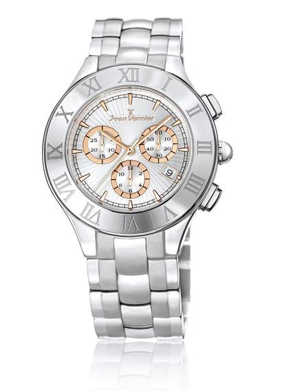 Relógio Jean Vernier Caixa Em Aço Inoxidável 5atm Dia A Dia