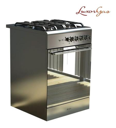Cocina Luxor Apart 550 Hornallas Luxorgas Luz Acero Valvula
