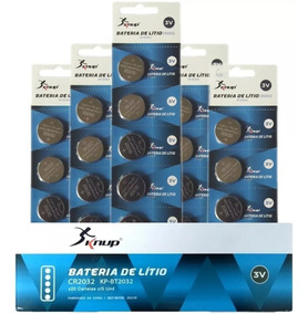 Bateria Cr2032 3v Lithium Kit 100 Unidades