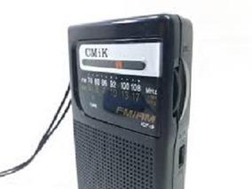 Radio De Pilha Portátil Cmik Icf-9 Am Fm Entrada Fone