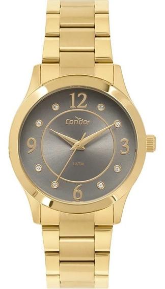Relógio Condor Feminino Dourado Banhado À Ouro Co2036kvb/k4c