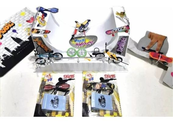 001pista Grande Skate Dedo Mini Rampa 06skates + Moto + Bike