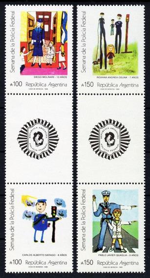 Argentina 1989 Gj 2468/71 En** Mint Policía Federal A