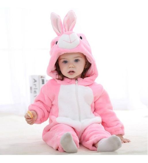 Macacão Bebê Bichinhos Desenho Fantasia Herois Menina Coelha