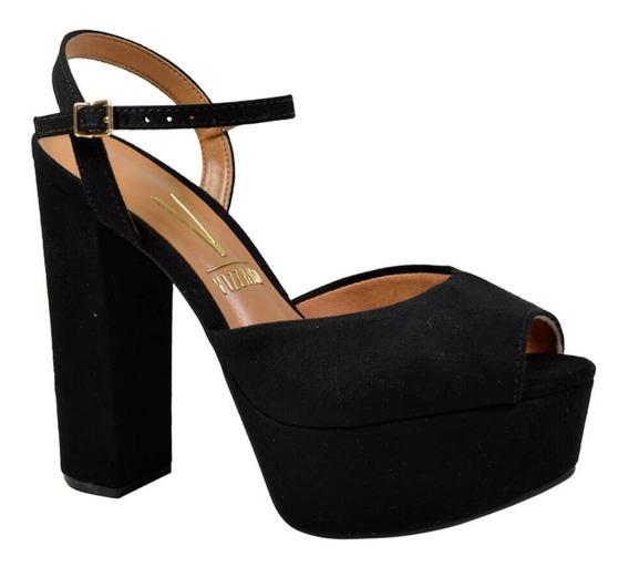 Sandalia Salto Grosso Alto Confortavel Vizzano Barato