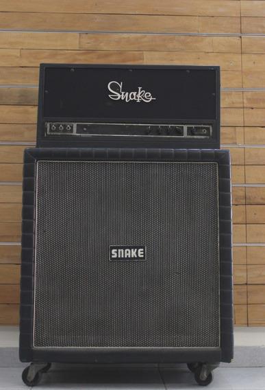 Amplificador E Caixa Snake Baixo