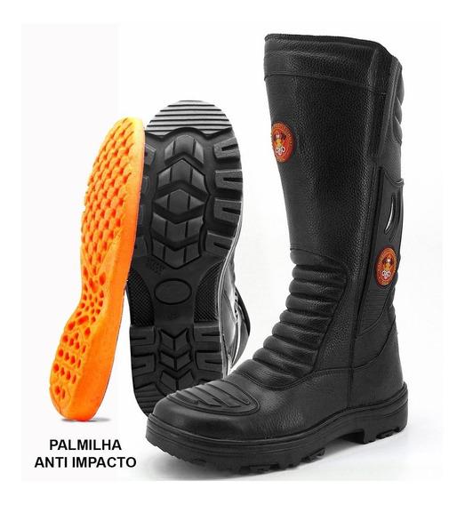 Bota Bombeiro Civil/samu/sem Logo Atron Shoes 295 Promoção
