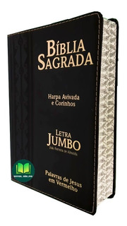 Biblia Jumbo Letra Extra Gigante E Harpa Corrigida