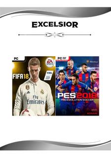 Fifa 18 - Pes 2018 / Para Pc Con Bajos Recursos En Hardware