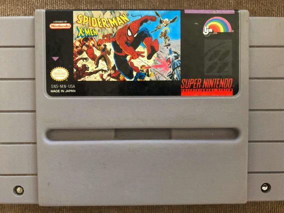 Fita Super Nitendo Spider Man X Man Arcades Revenge