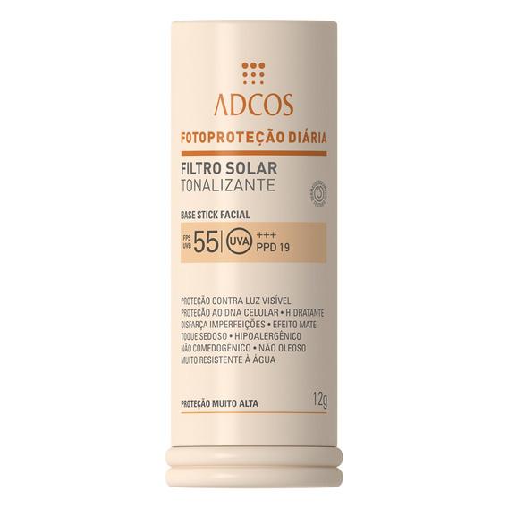 Protetor Solar Base Stick Tonalizante Fps 55 Adcos Ivory