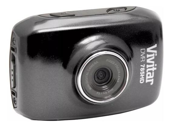 Câmera Filmadora De Ação Hd C/ Acess. Vivitar Preta Dvr785hd