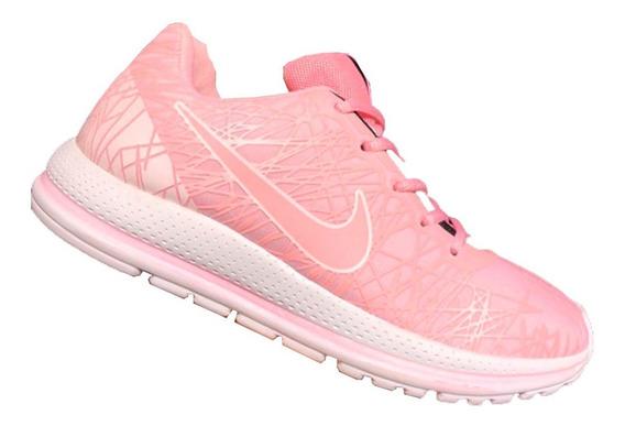 Zapatillas Para Jóvenes Modelo Urbano Color Rosa